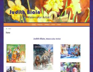 Judth Blain, Watercolor Artist