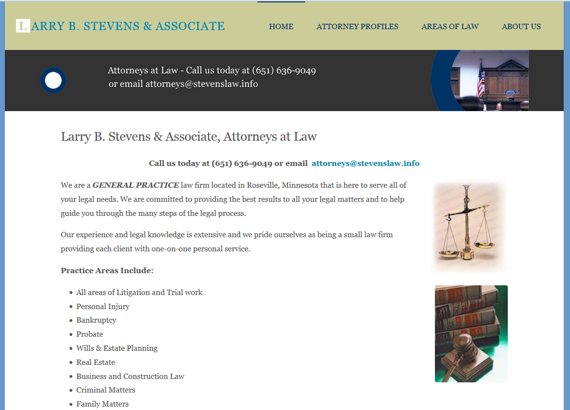 Larry B Stevens, Attorney at Law