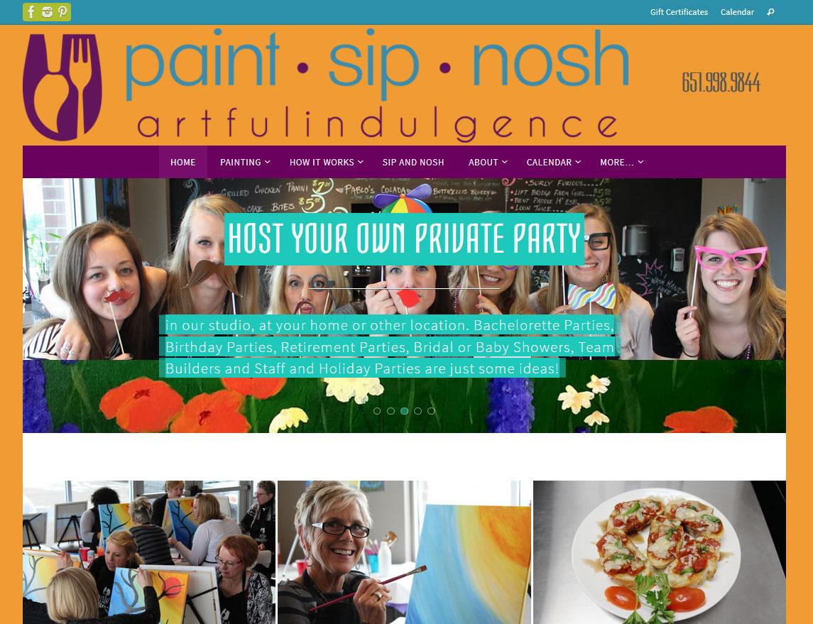 Artful Indulgence (Paint Sip Nosh)