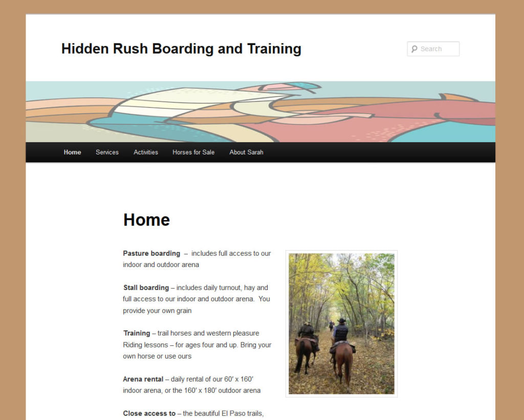 Hidden Rush Boarding and Training